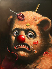 Despair (matthewkirscht) Tags: bear art painting sad candy surrealism pop oil imagist matthe wkirscht