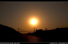 Wadi Laban Bridge at Sunrise ([ RAFIQ ]) Tags: wallpaper portrait beautiful photo image background valley riyadh saudiarabia rafiq riyad digitalcameraclub wadilabanbridge sonydslra200 rafiqsa af1870mmdtf3556zoomlens wadilabanbridgesunrise