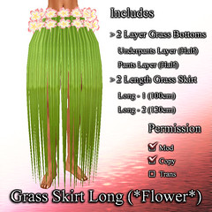 Grass Skirt  Long (*Flower*)