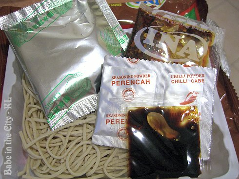 Ina Sambal Udang Pan Mee Goreng - ingredients