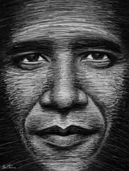 Obama in a Few Lines (Ben Heine) Tags: light portrait bw usa art texture look smart lines closeup print hope gris eyes support shadows skin zoom drawing lumire details president whitehouse fast evolution dessin digitalpainting congress revolution future caricature change precision leader copyrights speech technique slogan controversy challenges sant peau lignes socialsecurity volume regard ombres highres grays barackobama medicare criticism ihaveadream politicalart moveonorg digitaldrawing medicaid pupille lutherking discours scuritsociale changement yeswecan dfis benheine usadministration congrsamricain jaiunrve obamacare flickrunitedaward rformedessoinsdesant obamainafewlines infotheartisterycom
