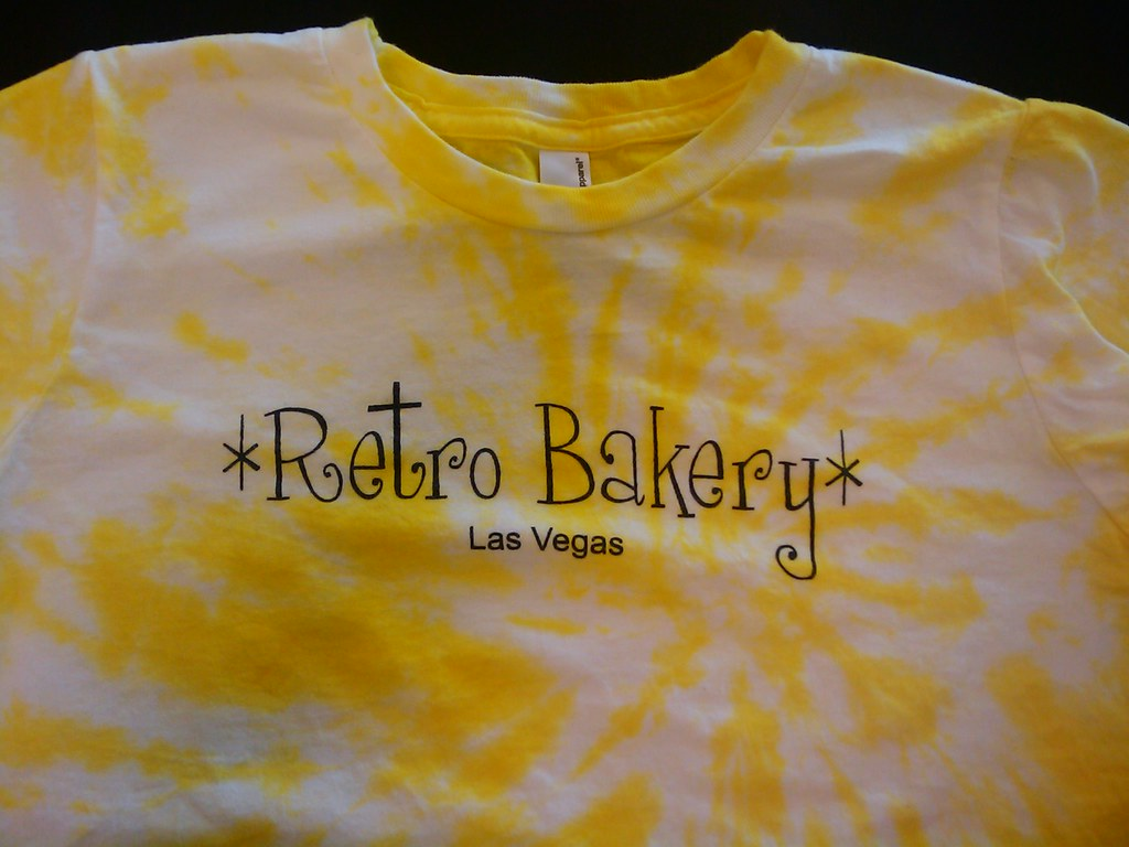 Retro Bakery's NEW tie dye t-shirts!