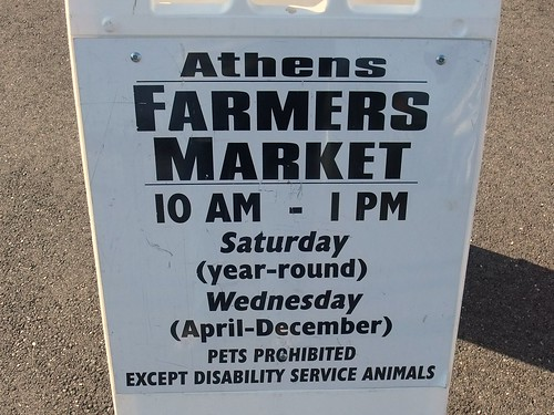 Athens Farmers Market Sign 9/19/09