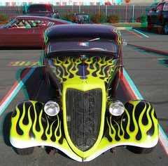 Colfax Avenue Cruise (Anaglyph 3D) (patrick.swinnea) Tags: classic car vintage stereoscopic stereophoto 3d automobile anaglyph denver 2009 carshow milehighstadium invescofield colfaxcruise