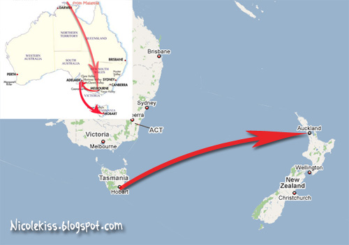 hobart to auckland