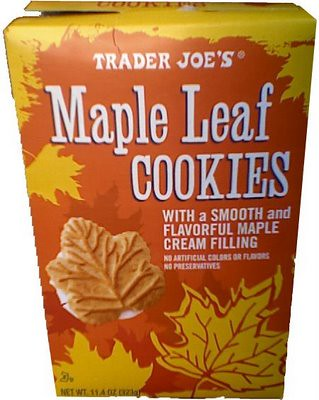 maple leaf cookies