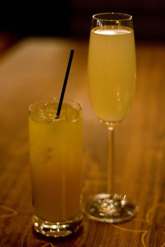 Pumpkin Cream Soda and Pear-secco cocktails