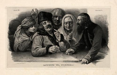005-Lugar de copas en Praga- Varsovia 1841-Album de dibujos de Varsovia- Piwarski