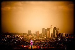 "Los Angeles Skyline - ""Contemplation"" (TooMuchFire) Tags: la losangeles cityscapes candids losangelesskyline lightroom candidshots cityskylines canon30d laskyline kennethhahnrecreationarea"