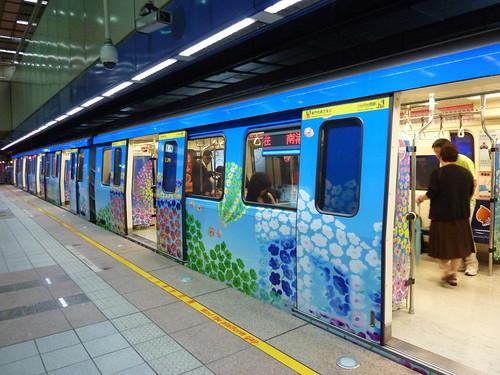花博彩繪列車-藍色號