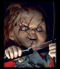 Chucky of the Child's Play horror movie icon
