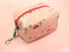 Kawaii Decolello Mushroom box pouch (eyes0nme19) Tags: pink cute mushroom fabric pouch kawaii etsy clover decole decolello