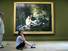 lunchtime at the museum (yetiger) Tags: museum painting manet musedorsay ledjeunersurlherbe