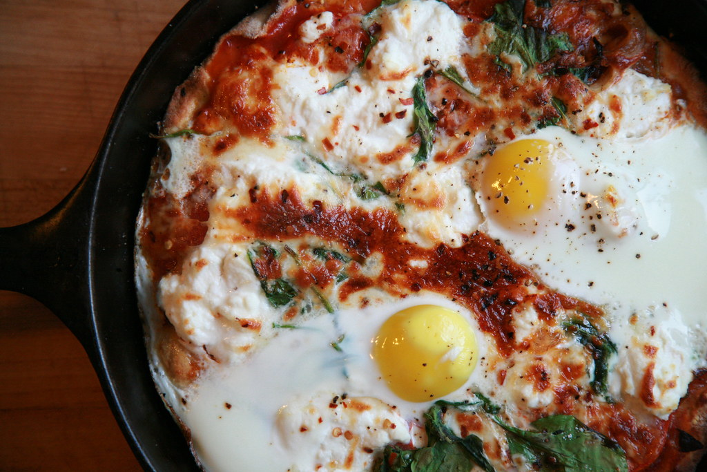 Pizza with Eggs