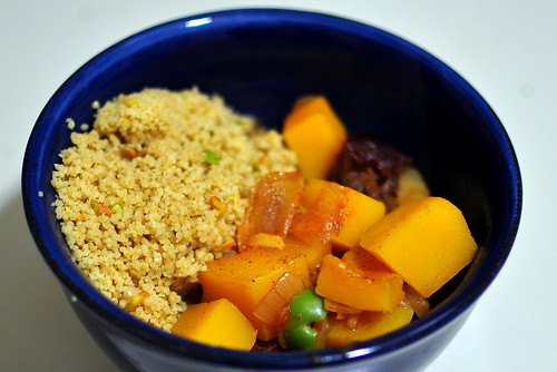 BUTTERNUT SQUASH TAGINE WITH PISTACHIO COUSCOUS