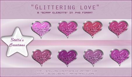 Glittering Love - © Blog Stella's Creations: http://sc-artistanelcuore.blogspot.com