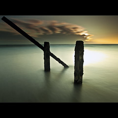 Smooth | Sticks (Reed Ingram Weir) Tags: longexposure sea coast sticks explore northumberland filter frontpage blyth 10stop