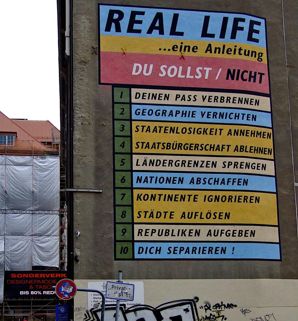 Real Life Du Sollst Winfried Veil Tags Blue Red