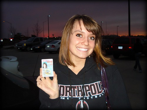 Hollywood with her license