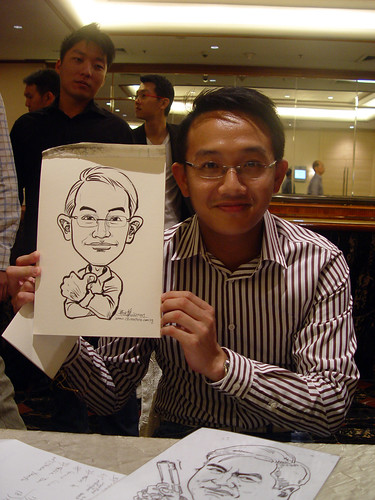 Caricature live sketching for wedding dinner 221109 - 13