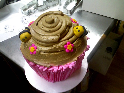 Honey Bee Cupcake Cake