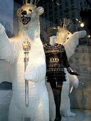 Royal Polar Bears (Viridia) Tags: newyorkcitychristmas animals christmas2009 newyork nyc midtownnyc winter manhattan mannequin mannequins urban fashion newyorkcityny westsidenyc newyorkny storewindows isaacmizrahi marchesa bergdorfs fringe bergdorfgoodmanchristmaswindows bergdorfgoodmanchristmaswindows2009 royalpolarbears scepter dresses bergdorfgoodmanwindows bergdorfgoodmanwindowdisplay fifthavenue polarbear polarbears holidaywindows christmas schlappimannequins bergdorfgoodmanwindowdisplays bergdorfgoodman windowdisplay windowdisplays 5thavenuenyc fifthavenuenyc christmaswindows christmaswindow