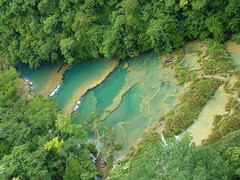 Semuc Champey from the view point.
