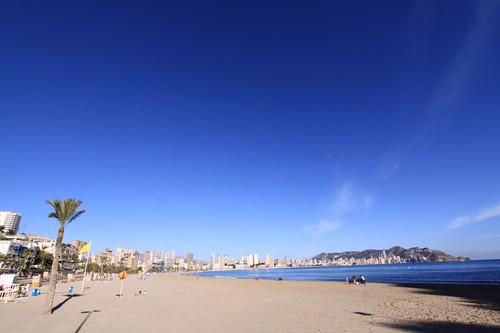Benidorm's Playa Poniente.