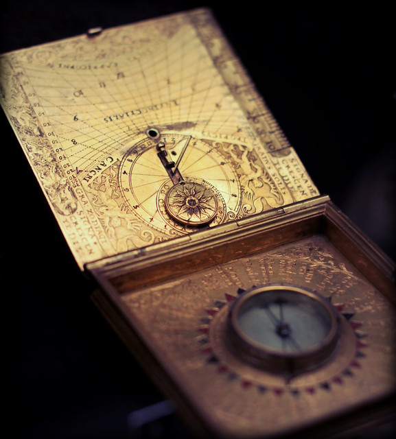 Compass with a sundial?