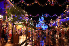 Daily Disney - Free Friday - A Magical Main Street (Explored) (Express Monorail) Tags: christmas travel decorations walter vacation usa reflection wet rain night america dark wonder geotagged fun psp interestingness orlando nikon rss florida availablelight magic dream wed elias disney mickey disneyworld fantasy mickeymouse handheld imagine theme wish orangecounty wdw waltdisneyworld walt magical kissimmee themepark magickingdom waltdisney mainstreetusa d300 wdi lakebuenavista imagineering cinderellacastle mickeysverymerrychristmasparty iciclelights baylake flickrexplore waltdisneyworldresort explored disneypictures disneyparks disneypics expressmonorail disneyphotos paintshopprophotox2 disneyphotochallengewinner joepenniston disneyphotography disneyimages geo:lon=81581225 geo:lat=28417258 cinderellacastledreamlights