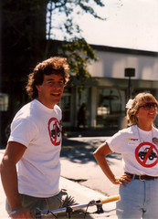 Peter D., Anne Cribbs, Beat the Back-Up, circa 1990 (markbult) Tags: baa bayareaaction beatthebackup