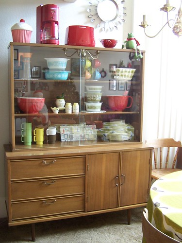 thrifted china cabinet