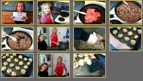 iPhone video clips for the Sausage Balls Cooking Show