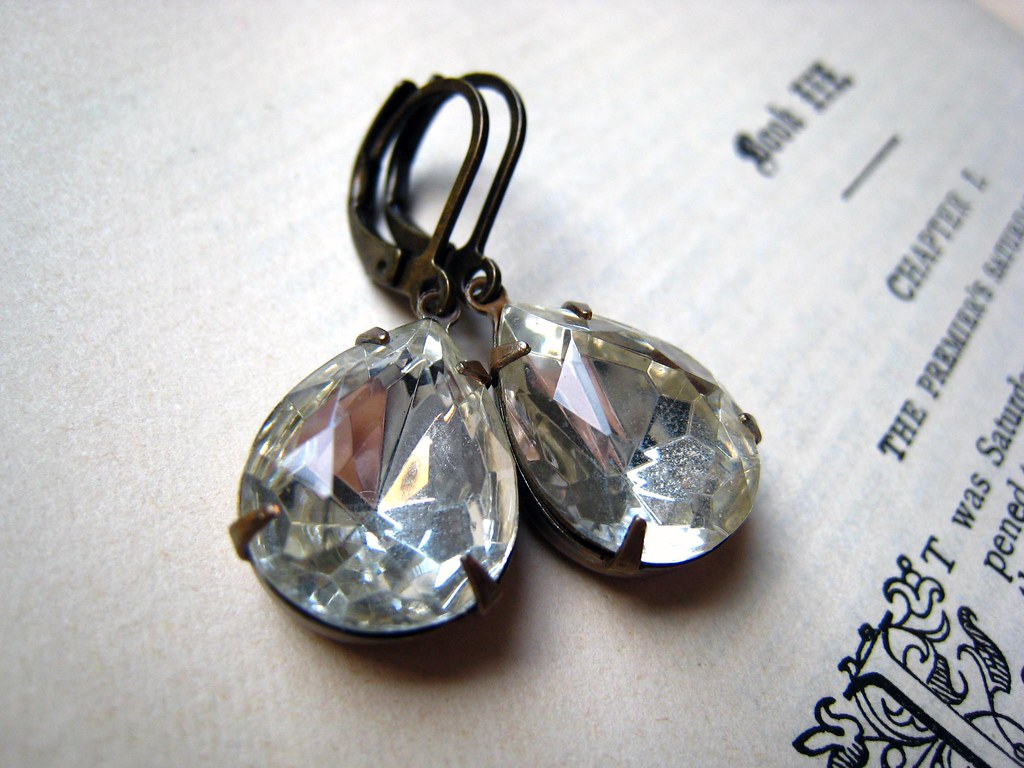Divine. Vintage Diamond Jewel Earrings