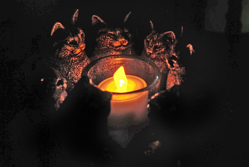 Solstice Cats Candle