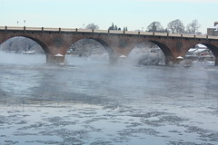Perth, Snow & Ice on the River Tay (Beange) Tags: snow ice rivertay perth smeatonsbridge