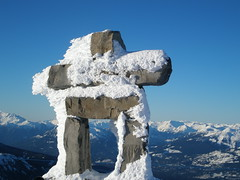 Olympics (Snowboard_141) Tags: snow vancouver whistler symbol peak olympics peakchair whistlerpeak olympicsymbol whistlerolympics