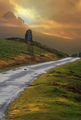 Dark Landscapes (h_roach) Tags: road sunset tower wales clouds landscape gettyimage blueribbonwinner searchthebes bej blueribbonwinne