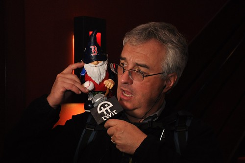 Leo Laporte loves the Red Sox Gnome
