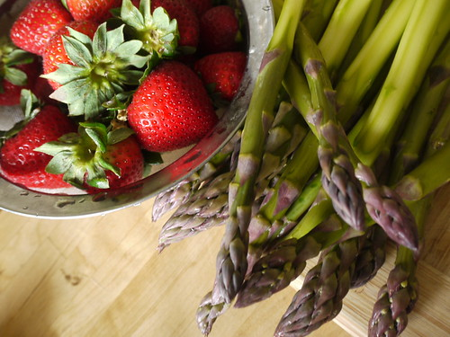 asparagus and strawberries i