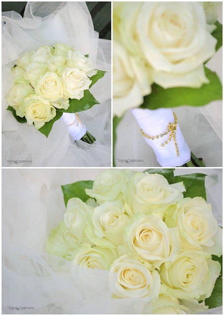 avalanche roses - buchet mireasa - white roses bridal bouquet