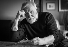 Tom (David Fullwood) Tags: ireland portrait bw tom stern puzzled 2014 tombeeson