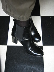 shine (Ladybadtiming) Tags: black feet leather shoes shiny boots pair checkered waterproof shoefreak cuirglac