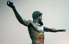 Artemision Zeus or Poseidon, left view, c. 460 B.C.E.
