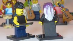 Gothic Archer& Mohawked Machetiest2 Brick Yourself Custom Lego Figure