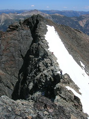 The ridge traverse from Monument's E Peak