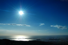 (Iyhon Chiu) Tags: ocean blue sea sun astral  shining  sealevel       taipeiport
