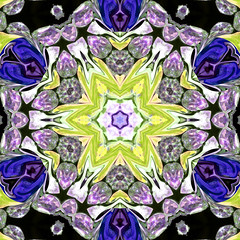 Yellow blue n purple (sebilden) Tags: kaleidoscope grytlapp sebilden