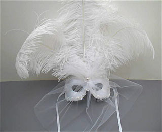 Feather Masks for Weddings