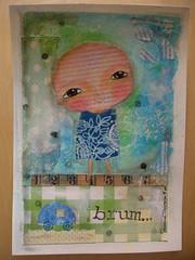 """""""Baby Boy"""" - original on aquarelle paper/ Reserved (Susana Tavares) Tags: blue portrait verde green car azul retrato mixedmedia room carro quarto papel bébé babyboy pintura rapaz aguarela"""